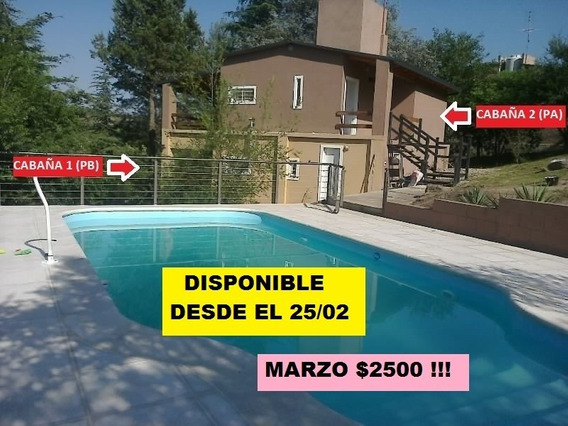 Alquilo 2 Casa / Cabaña Con Pileta A 5 Mín De Carlos Paz