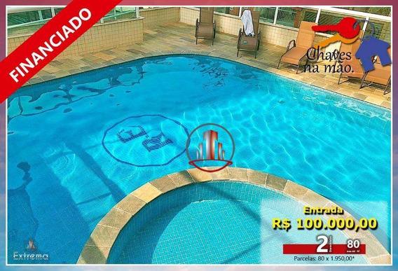 Apartamento Com 2 Dormitórios À Venda, 80 M² Por R$ 280.000,00 - Aviação - Praia Grande/sp - Ap1461