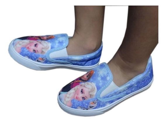 Tênis Infantil E Baby Iate Fantasia Frozen Elsa Anna E Olaf