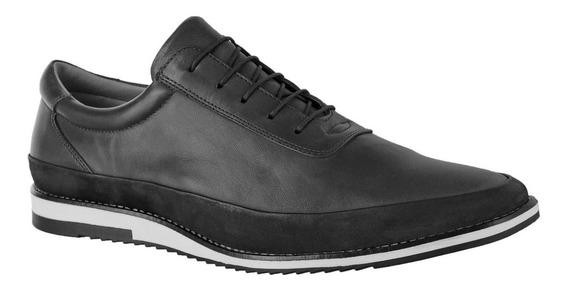 Sapato Casual Amarrar Couro Nobre Connect 050