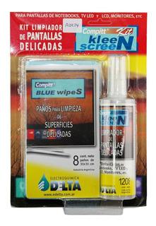 Kit X2 Limpiador Pantalla Led Lcd Compu Monitor + Paños Htec