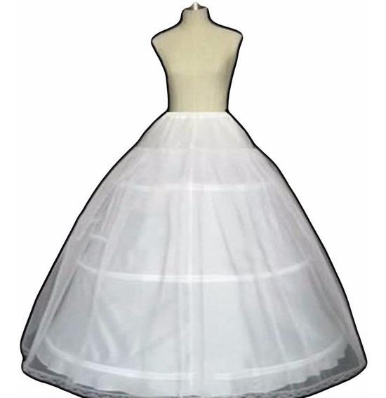 Saiote Anágua Para Vestido Noiva 3 Aros Com Tule Partylight