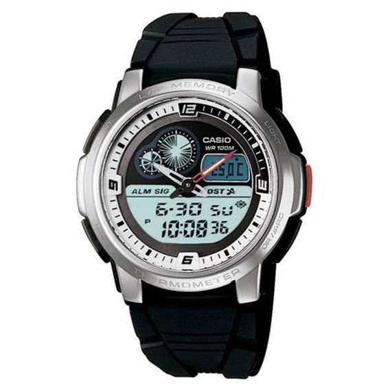 Relógio Masculino Anadigi Preto Casio Aqf-102w-7bv