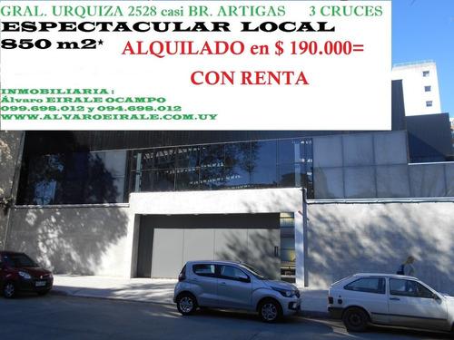 Local Nuevo Con Renta $ 190.000=  3 Cruces.( Urquiza 2528)