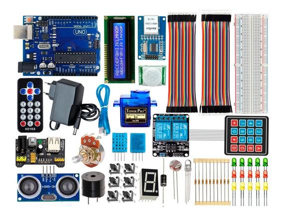 Kit Para Arduino Uno R3 Intermediário Automação Com Brinde