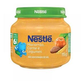 Lote C/ 20 Papinha Nestlé Carne, Legumes E Macarrão 115g