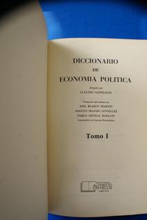 Diccionario De Economía Política (tomo I Y Ii)