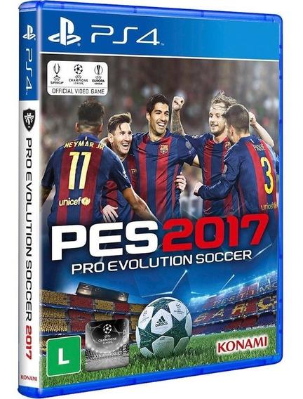 Pes 2017 Pro Evolution Soccer Ps4 Mídia Física Lacrada