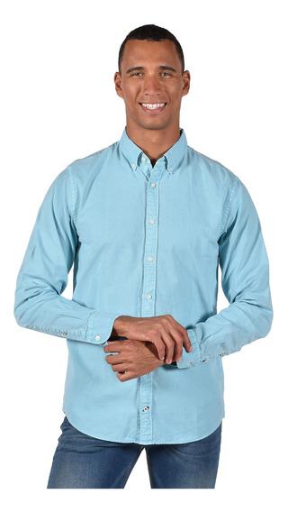 Camisa Regular Fit Tommy Hilfiger Azul Mw0mw06081-417 Hombre