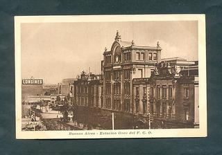 Estacion Once . Antigua Tarjeta Postal .