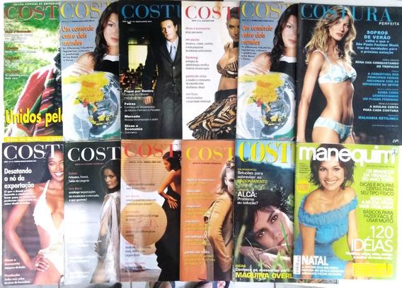 Revista Costura Manequim Lote Com 12 Moda Estilista