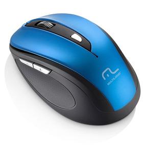 Mouse Multilaser Sem Fio 1600dpi Usb 6 Botões Preto E Azul M