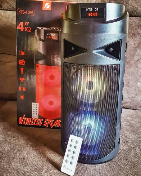Caixa De Som Bluetooth Karaoke Usb Pendrive Controle