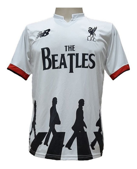 Camisa Liverpool Beatles Branca Preta Azul