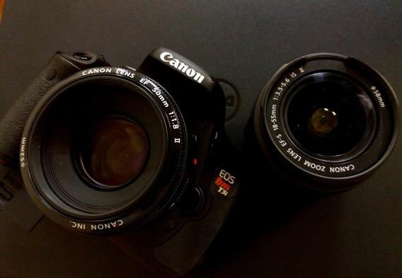 Câmera Cânon T3i Com Lente Do Kit E 35-105