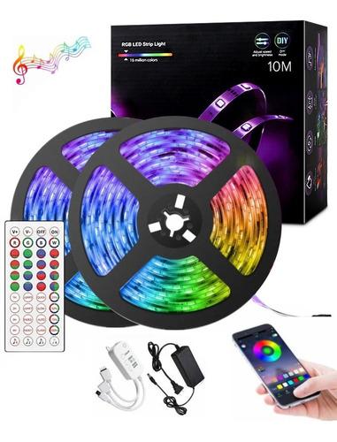 Imagen 1 de 9 de Tira Led Bluetooth 10m Tira De Luces 5050 Rgb Lonk 300 Led
