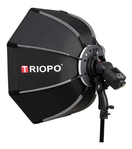 Imagen 1 de 10 de Difusor Triopo Hexa Softbox 55cm C/ Rotula P/ Flash Zapata