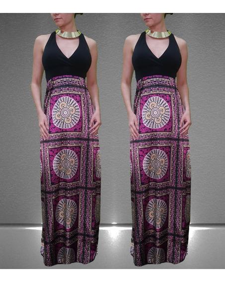 Vestido Largo Color Purpura
