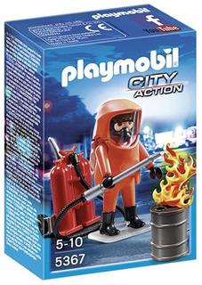 Playmobil 5367 Especialista En Extinción De Incendios