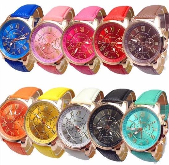 10 Reloj Relojes Geneva Unisex Original Mayoreo Moda