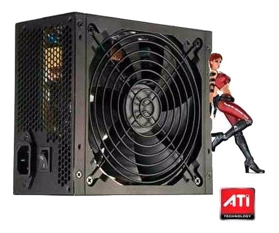 Fonte Atx 500w Reais Gamer Knup Super Silenciosa P Pc Bivolt