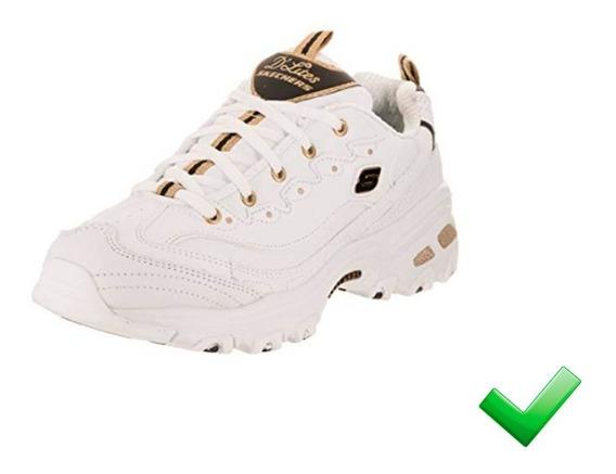 Zapatillas Skechers Mujer D-lite Blanco Moda 2019 -30% Off