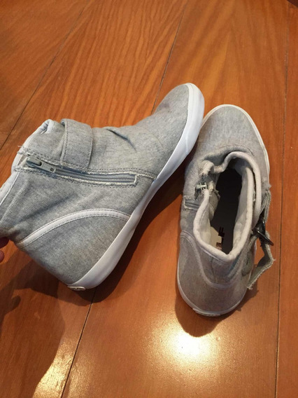 Sapato De Cano Alto Khelf Cinza Feminino Número 38