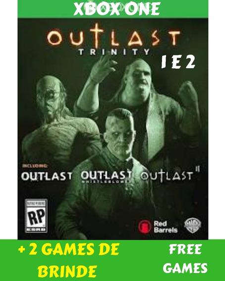 Outlast 1 E 2 Xbox One + 2 Jogos De Brinde