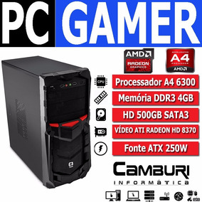 Pc Gamer Amd A4 6300 3.9ghz Turbo 4gb Hd 500gb Radeon 8370d