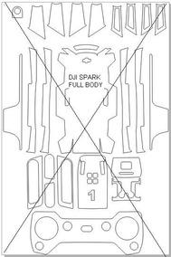 Vetor Dji Spark - Faça Sua Própria Skin Personalizada!