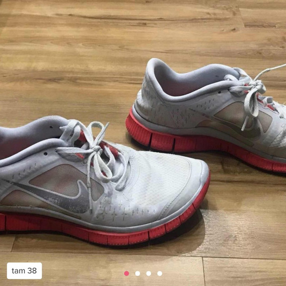 Nike Free Laranja E Branco