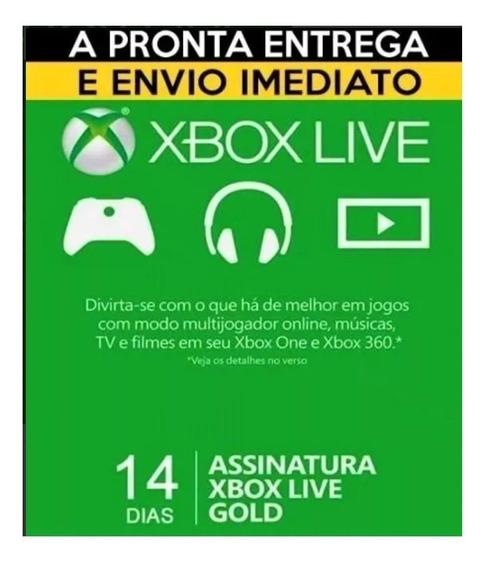 Xbox Live Gold Trial 14 Dias - One / 360 Br - Envio Imediato