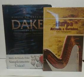 Bíblia De Estudo Dake Preta Com Detalhes C/ Harpa De Brind