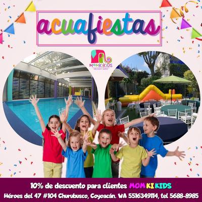 Acuafiestas Salon De Fiestas Infantiles Con Alberca Y Jardín