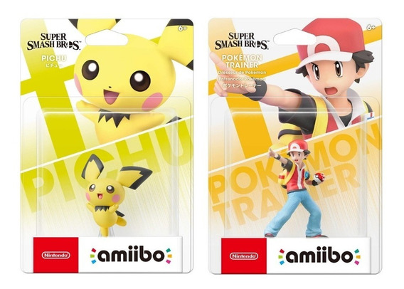 Amiibo Pokemon Trainer Pichu Super Smash Bros Ash Nintendo
