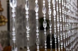 Cortina De Miçanga Acrílica Transparente Cristalina Decore