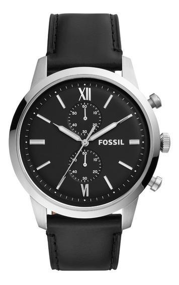 Relógio Fossil Masculino Preto Couro Fs5548/opn