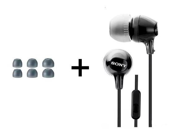 Fone De Ouvido Sony Com Microfone Estéreo Mdr Ex15ap Preto