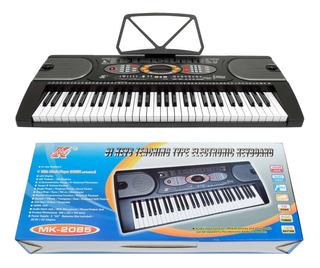Teclado 61 Teclas Con Reproductor De Música Mk-2085 Icb Tech