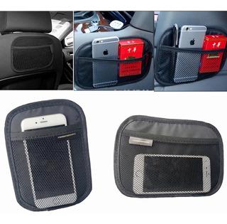 Porta Celular Objetos Bolsillo Con Red Adhesvo Velcro Auto