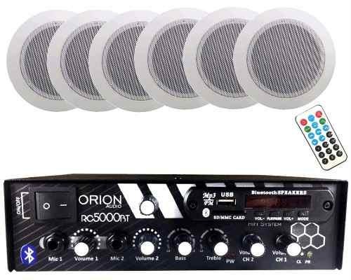 Kit Som Ambiente 300w Rms Rc5000 Bluetooth + 6 Arandela