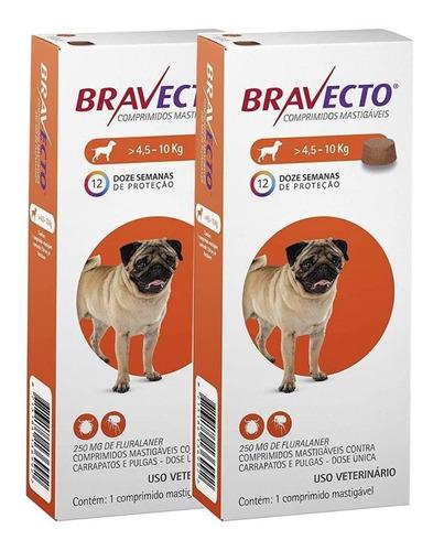 Combo 2 Comp. Antipulgas Bravecto Para Cães De 4,5 A 10kg