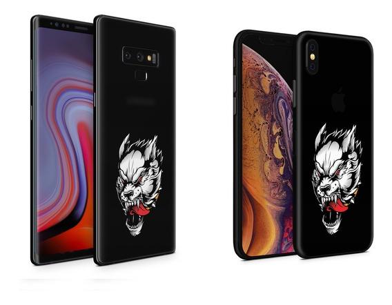 Skin White Wolf Apple Samsung Huawei Lg Sony Xiaomi Etc