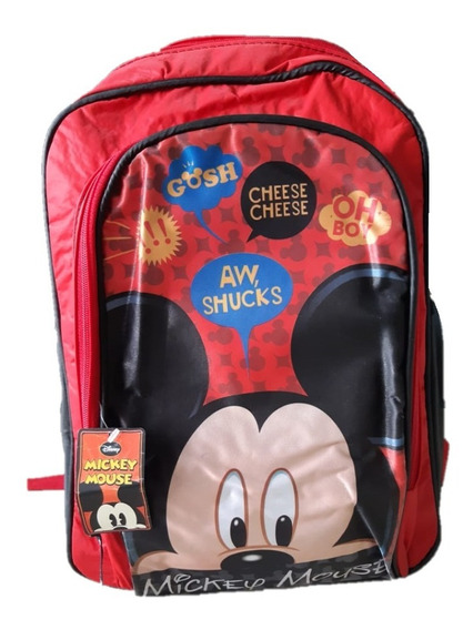 Mochila Espalda Escolar Disney Mickey Mouse Original 15