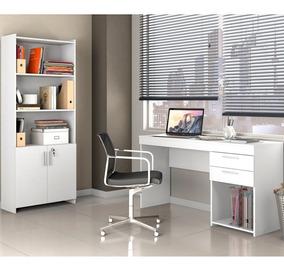Conjunto Multiuso E Mesa Home Office Notável Branco
