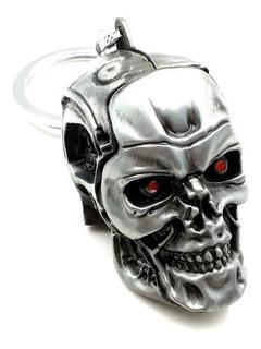Cabeza Terminator T-800 - Llavero Metálico.