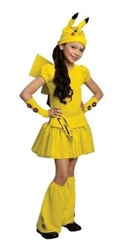 Disfraz De Pikachu Rubie's Un Solo Color Para Niña