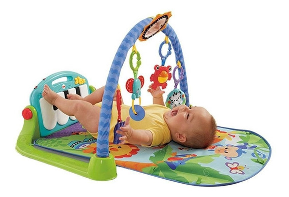 Gimnasio Piano Pataditas Musical Azul Fisher Price Msi!
