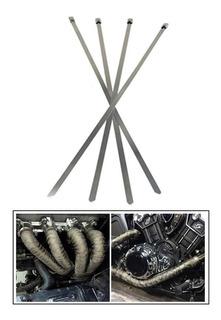 4 Cinchos De Metal Correas Para Cinta Termica Escapes 30cm