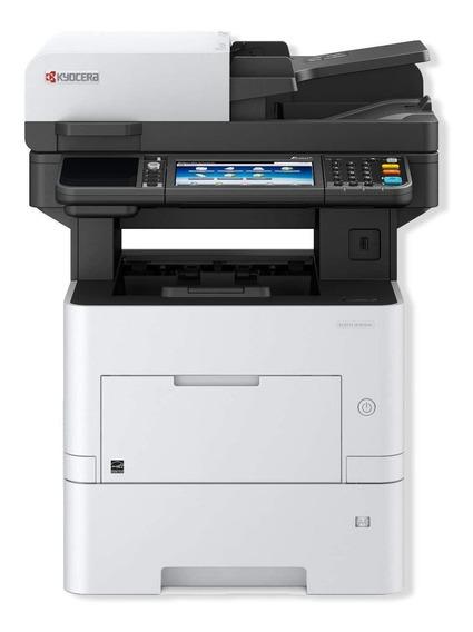 Impressora multifuncional Kyocera Ecosys M3655IDN com wifi 120V branca e preta